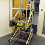 Deskglider in an office