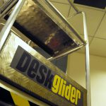 Deskglider in an office setting